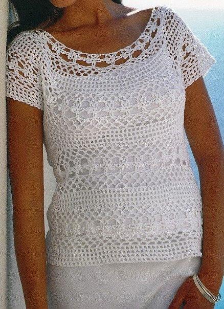 Crochet Lace Top Patternladies Womens Crochet Blouse Summer