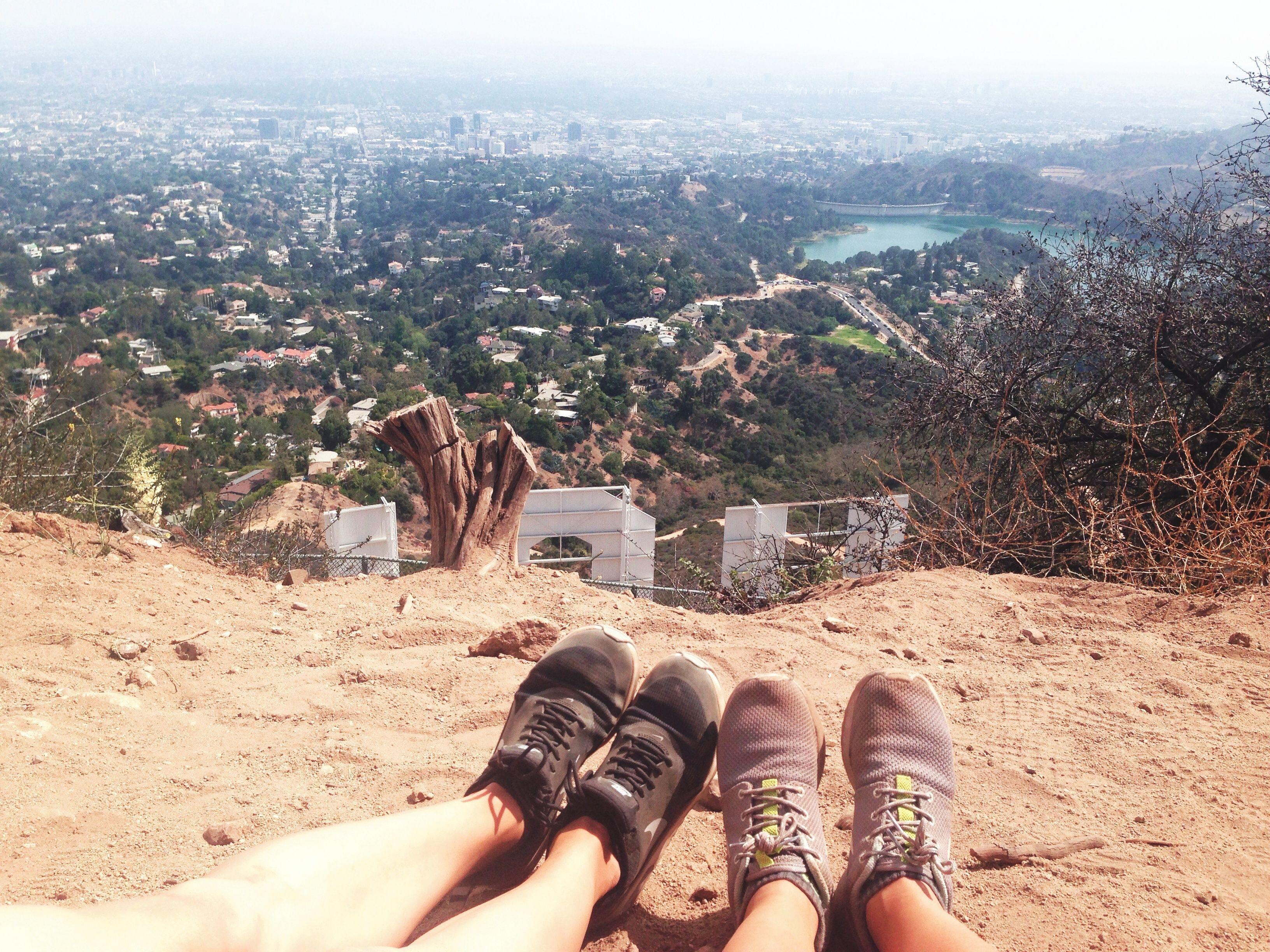 Footprint . Hollywood sign
