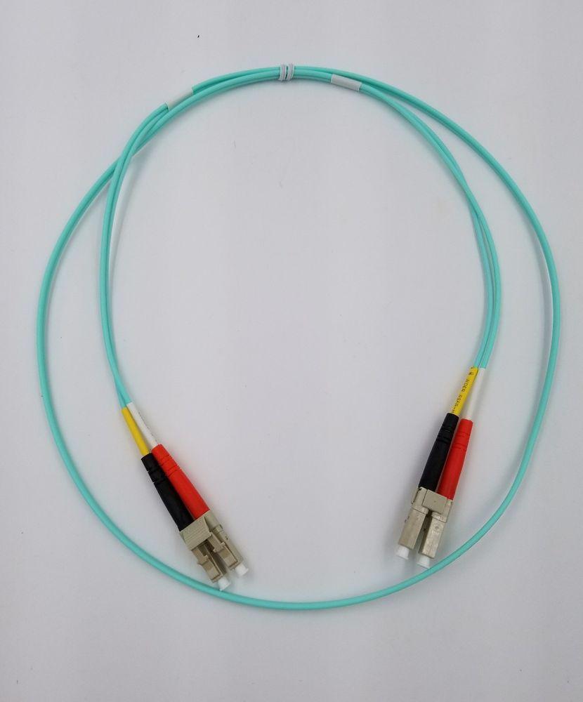 4M LC-LC Duplex 50//125 Multimode 10 Gb Fiber Patch Cable Aqua om3 Corning LSZH