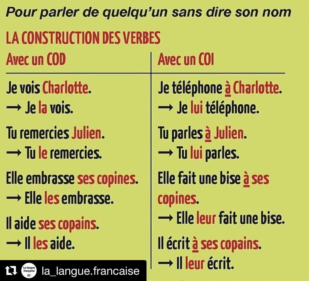 Les COD/COI #boiteaufle #Repost @la_langue.francaise (@get_repost ...