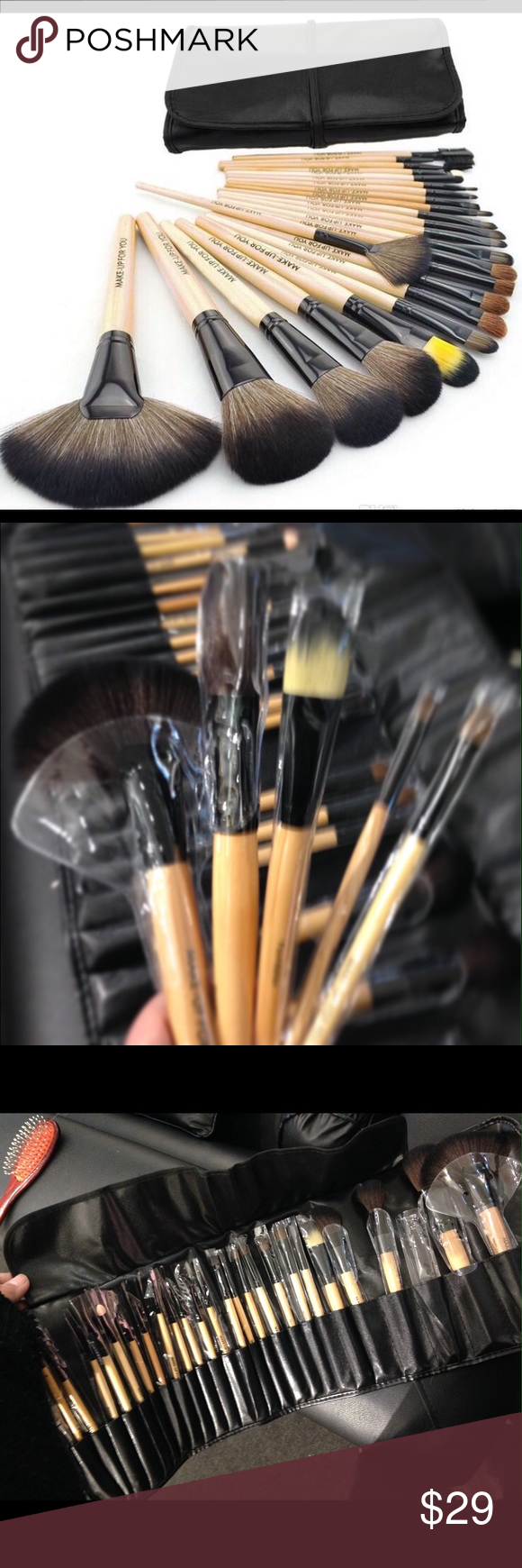 24 pcs awesome Makeup brush/case PRICE FIRM NEWset