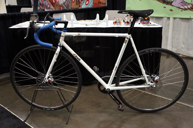 nahbs 2012 cinelli prototype disc brake cyclocross bike updated xcr stainless steel road bikerumor