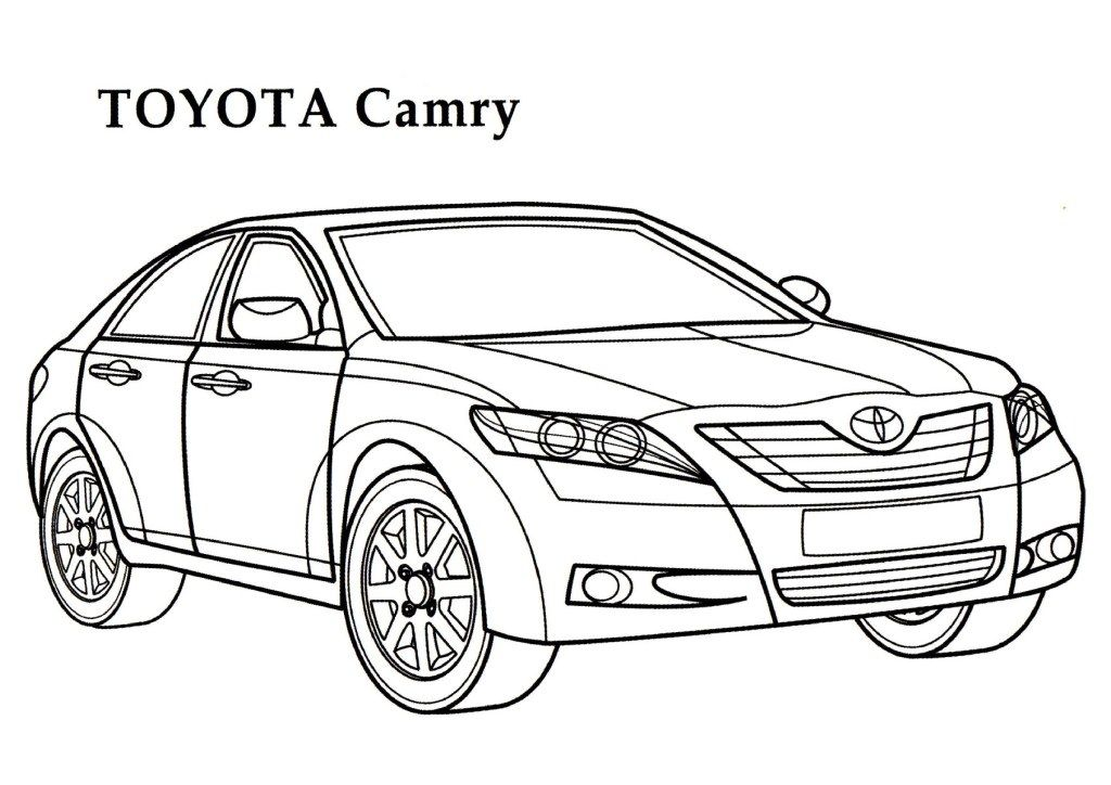 Toyota Camry Car Coloring Page With Images Cars Coloring Pages