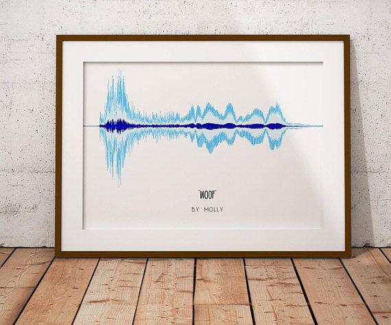 Unique Pet Gift Soundwave Art Print Your Pet S Voice Etsy Soundwave Art Pet Gift Christmas Gifts For Pets