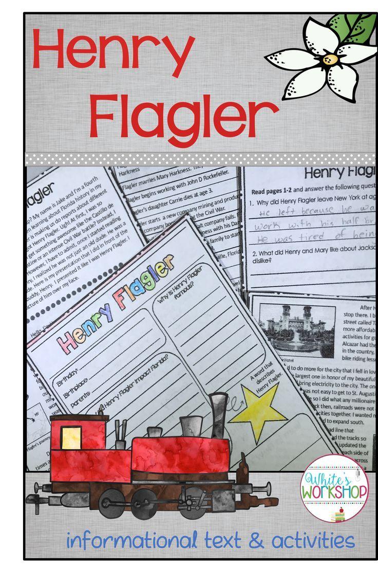 Henry Flagler | TPT Fun Literacy Resources | Pinterest
