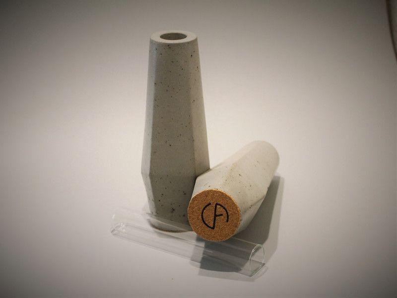 Vasen - Vase Primus Set Beton Design Blumenvase - ein Designerstück von concrete_art bei DaWanda