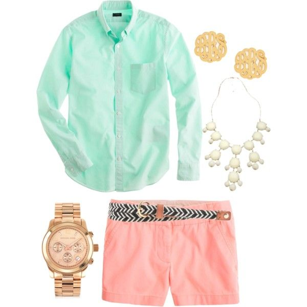 """gotta have pastels"" by the-southern-prep on Polyvore"