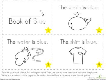 The Color Blue Worksheet Education Com Preschool Colors Preschool Worksheets Free Printables Color Blue Activities