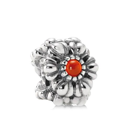 July With Carnelian Birthday Blooms Birthstone Charm Grapefruit
