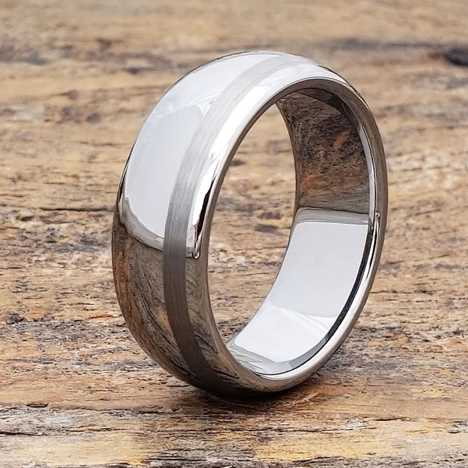Mens Offset Inlay Ring Unique Mens Ring Mens Wedding Band Etsy Tungsten Mens Rings Mens Wedding Rings Mens Wedding Bands
