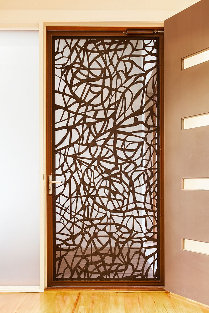 Architectural Security Screen Doors By Entanglements Metal