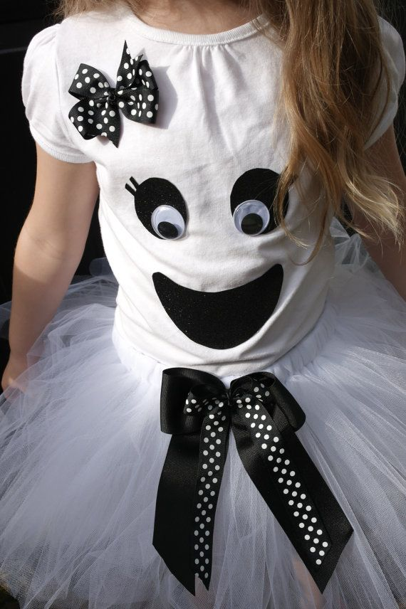 Baby Girl's Ghost Tutu Costume von MommyandThings auf Etsy