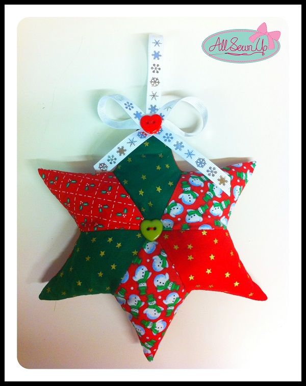 Patchwork hanging star tutorial #sewingdirectory | All Holiday ...