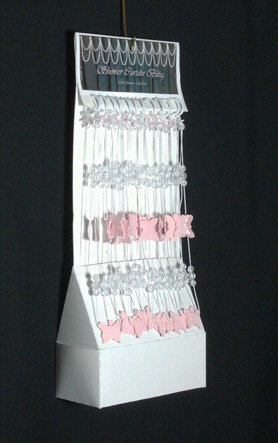 Shower Curtain Bling Pink Butterfly Via Etsy All Butterfly Everything Pinterest