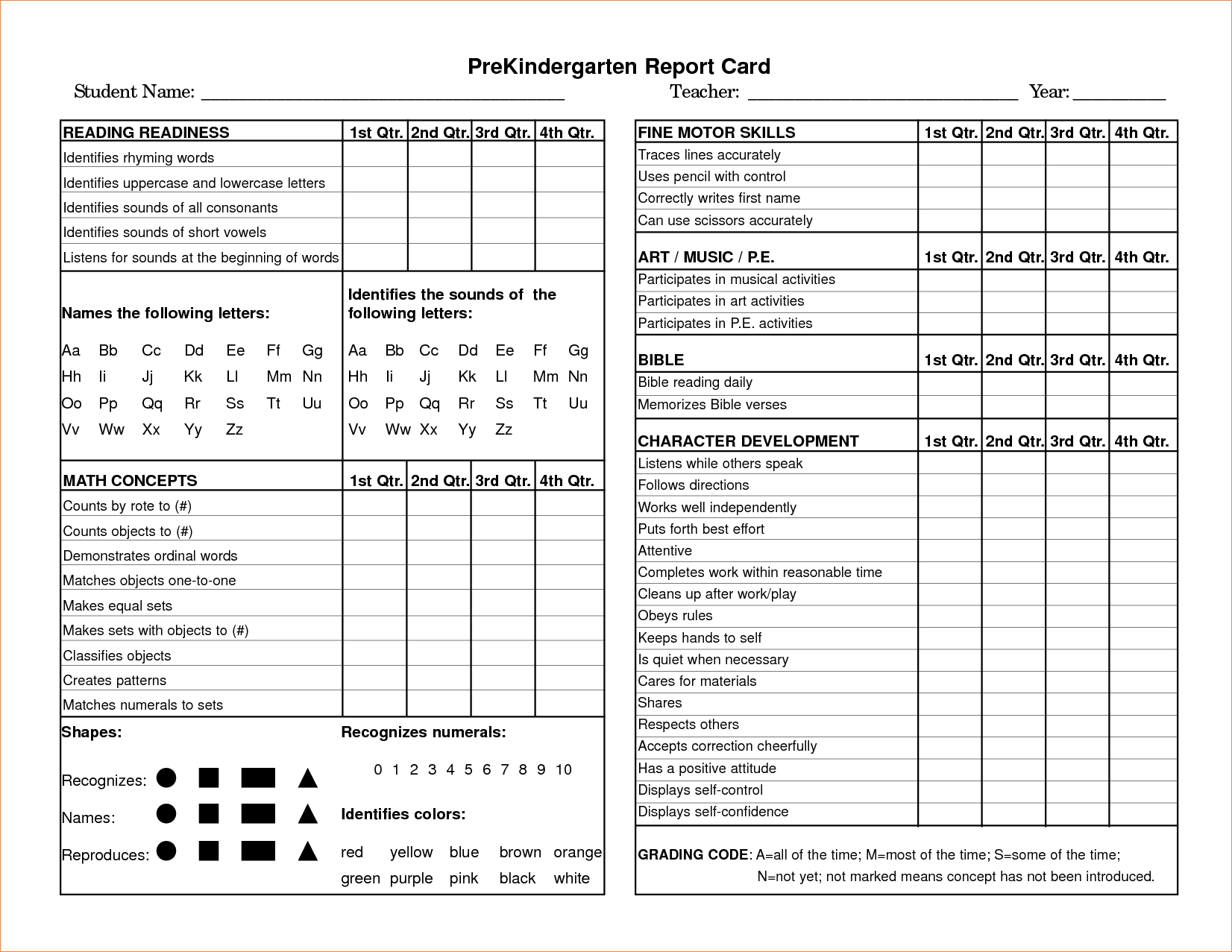 school report cards templates