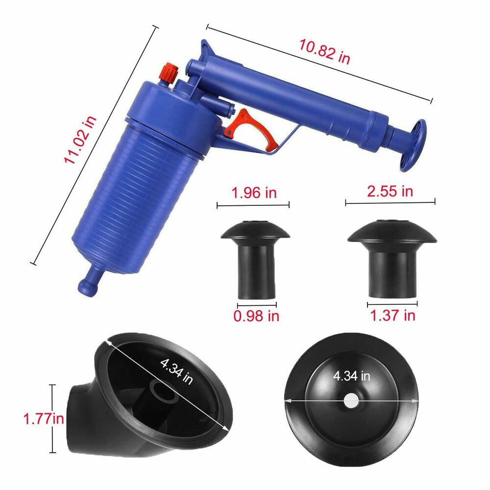Power Toilet Plunger Set Drain Clog Remover Tool Drain