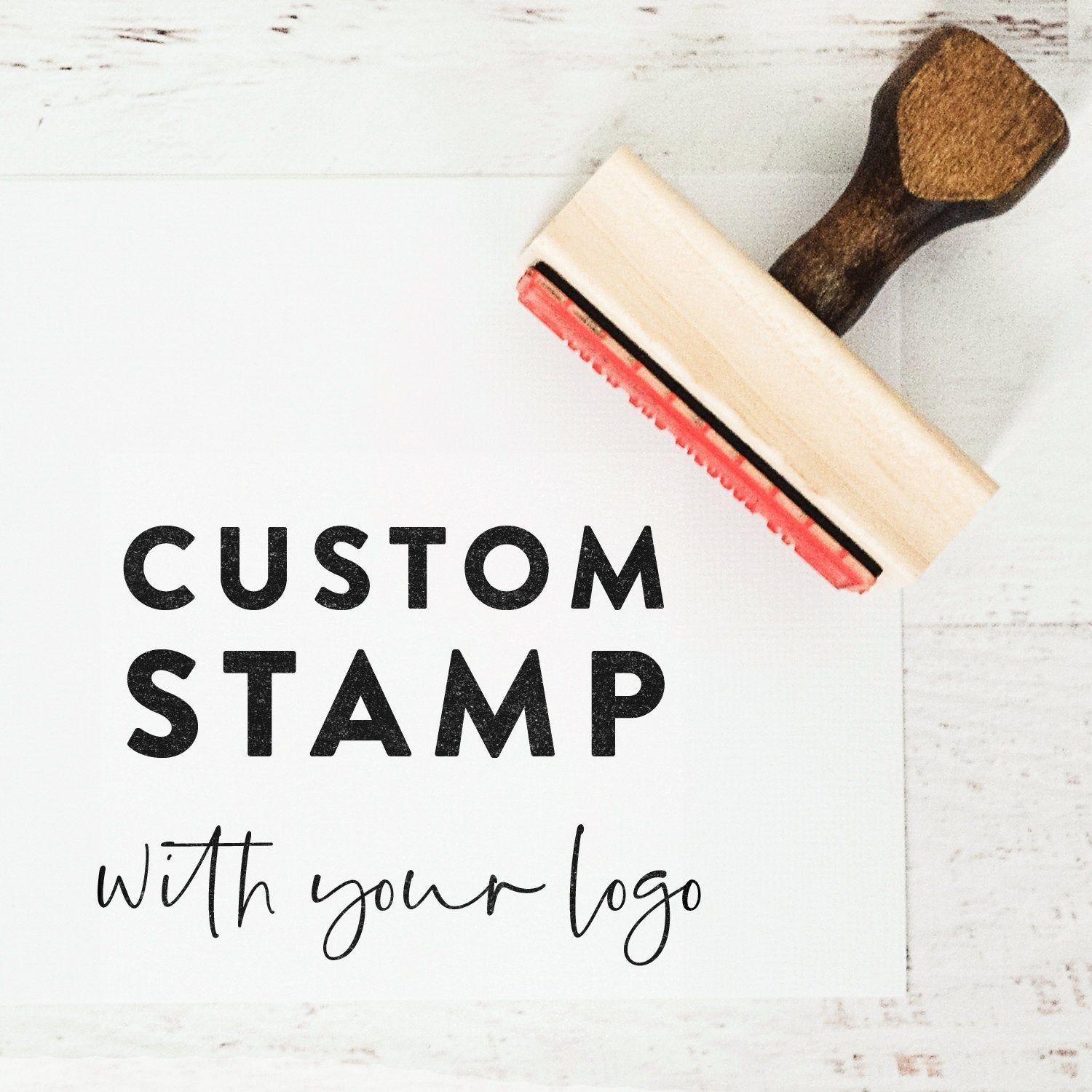 Custom Logo Stamp With Your Image, Custom Stamp for Small