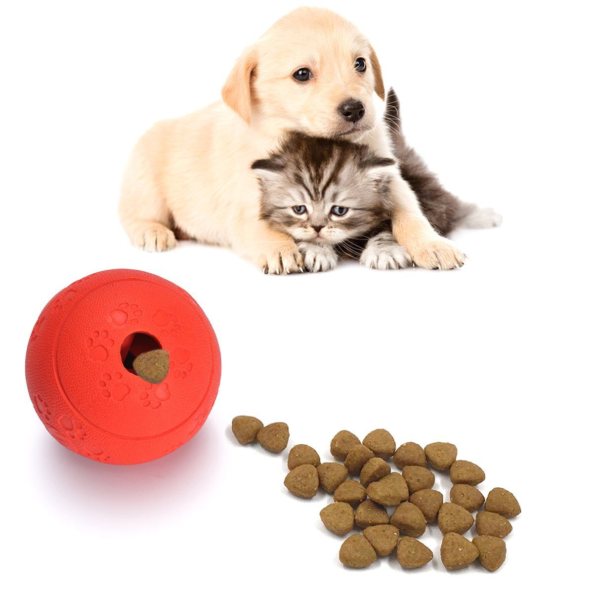 Dog Chew Toys Pestory Nontoxic Rubber Puzzle Dog Treat Slow Feed