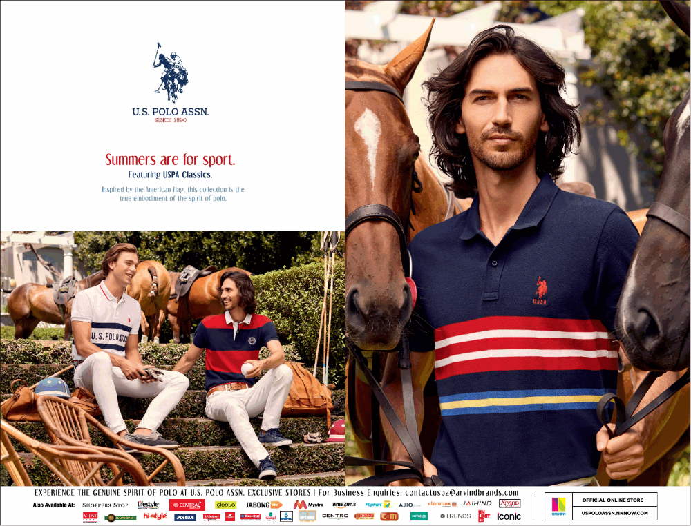 U S Polo Assn Summers Are For Sport Ad Delhi Times 07 04 2019 Polo Assn U S Polo Assn Polo