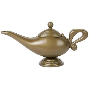 Gold Plastic Aladdins Genie Lamp Panto Arabian Nights Fancy Dress Accessory New