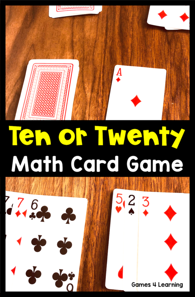 i love simple math games that only require a deck of cards