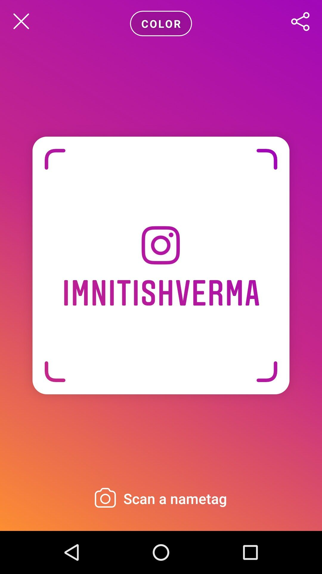 Follow Me On Instagram Scan This Nametag Code  Or Search