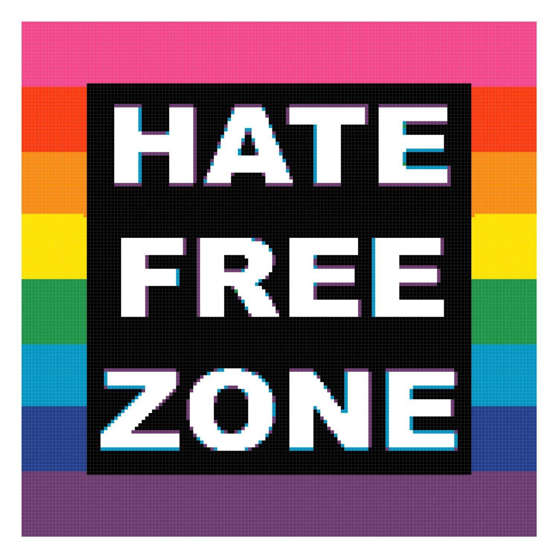 Hate Free Zone Cross Stitch PDF Needlework Pattern - DIY Crossstitch ...