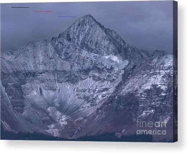 Colorado Monotone Acrylic Print by Norma Brandsberg Mount Sneffles, Dalas Divide, near Telluride, Colorado, first snowfall. #colorado #coloradotravel #fineart #art #mountains #photog #homedecor #home #decor #telluride #dallasdivide #normabrandsberg #elegantfinephotography #gifts #christmasgifts #prints #landscapes #snow<br> Colorado Monotone acrylic print by Norma Brandsberg.   Bring your artwork to life with the stylish lines and added depth of an acrylic print. Your image gets printed directly