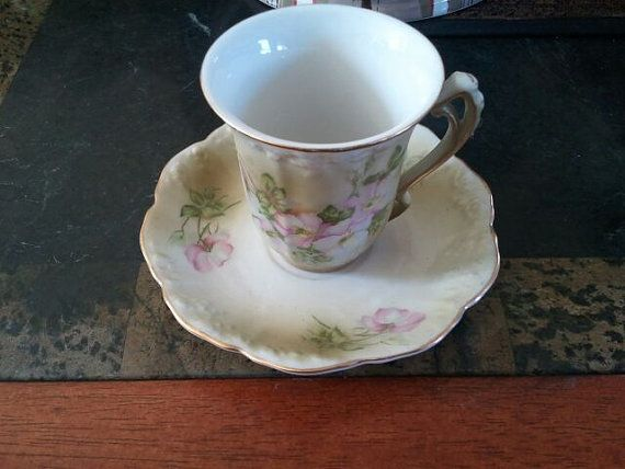 Nippon Vintage Hand Painted Gold Trimmed Embossed by neatsuniques