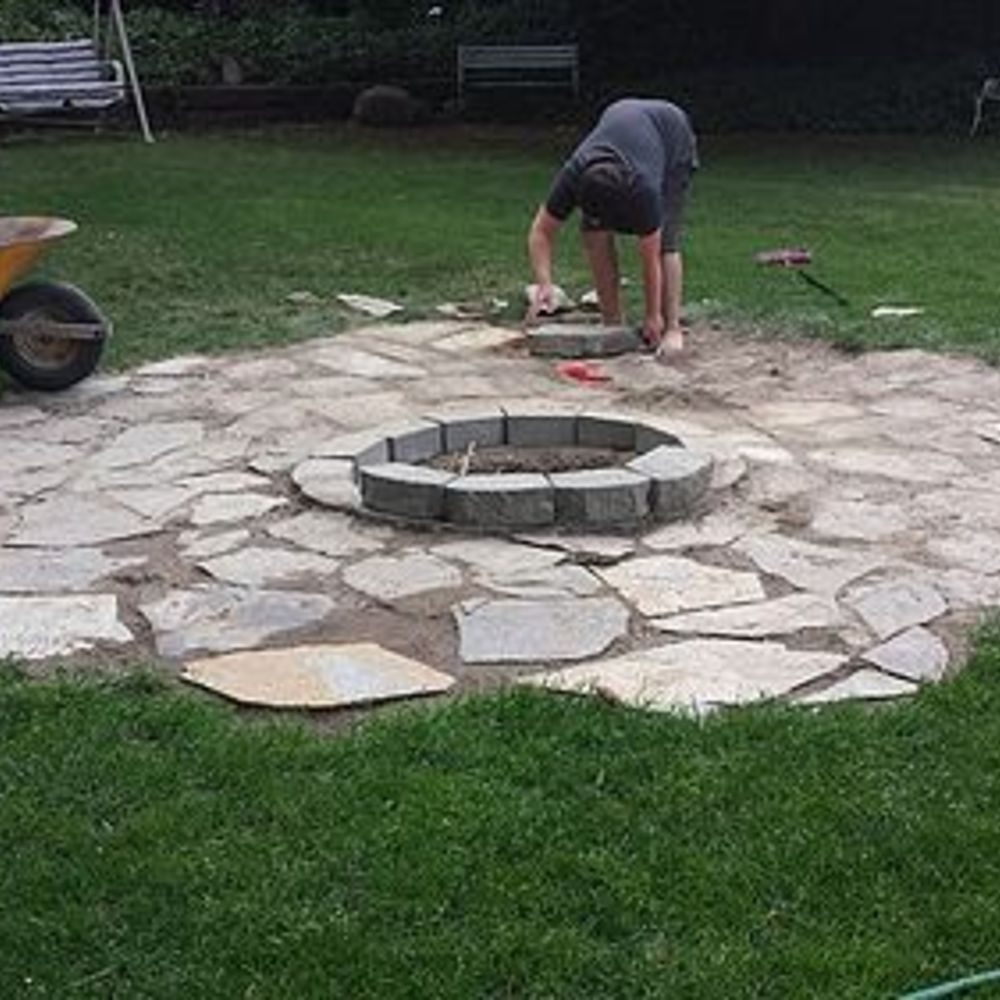 lovely cheap outdoor flooring ideas 3 diy backyard fire pit patiofire - Patio Ideas With Fire Pit On A Budget