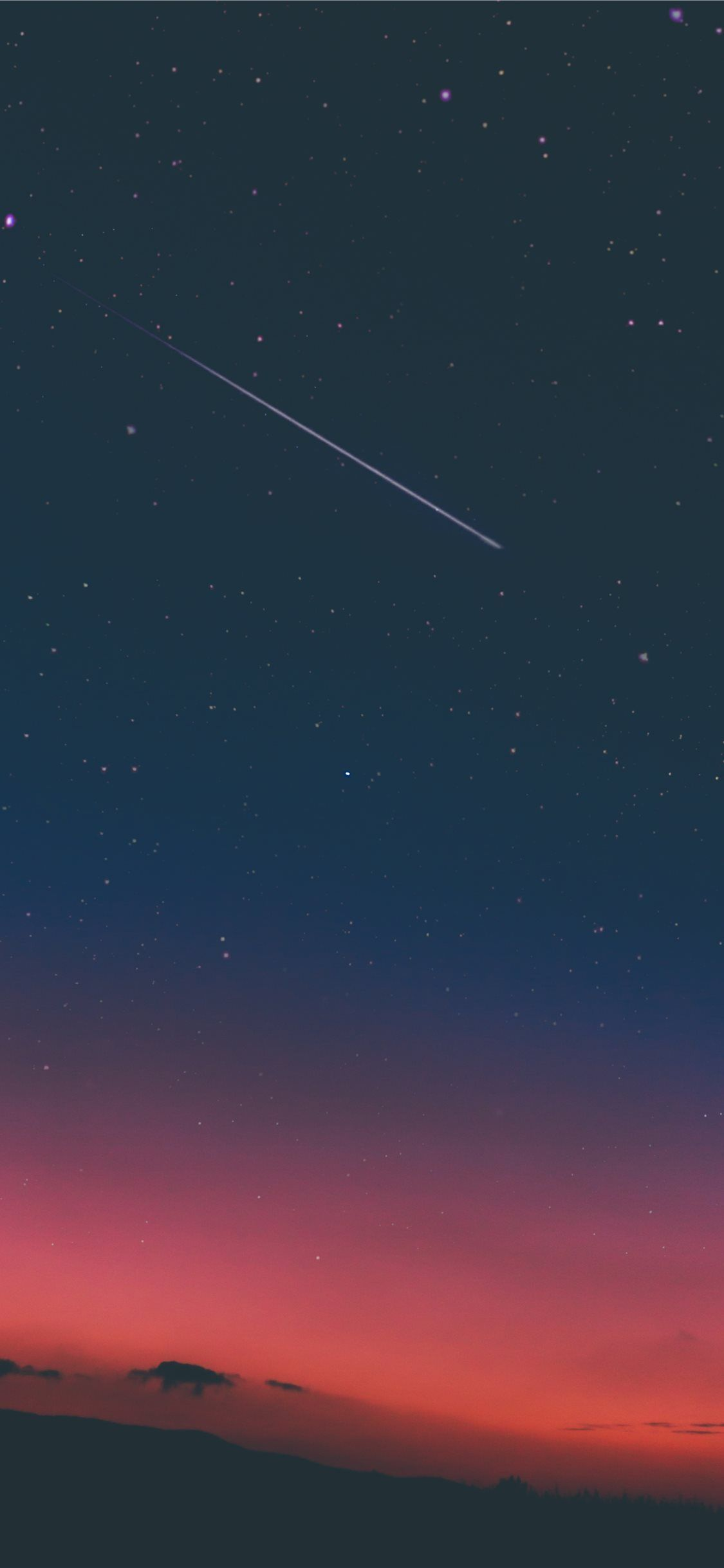 shooting star in night sky iPhone 11 Wallpapers Sunset