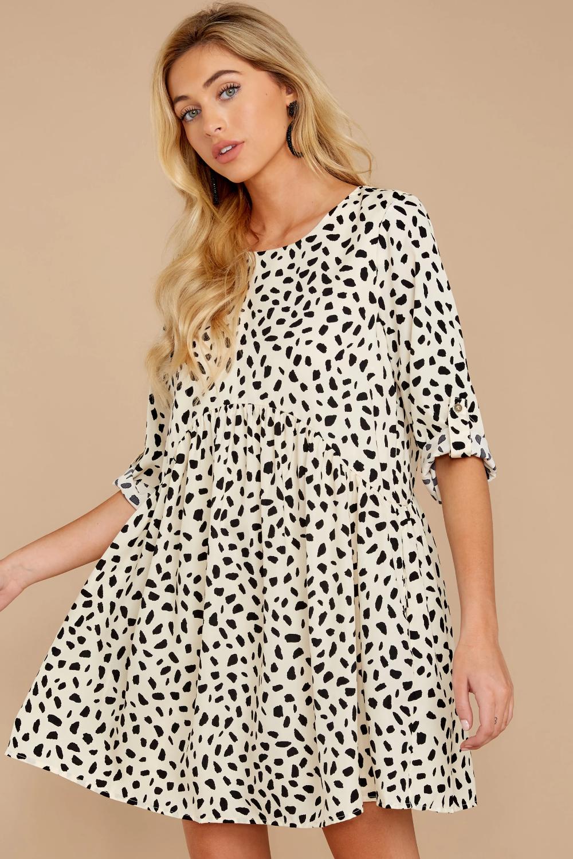Major Mood Cream Cheetah Print Dress Cheetah Print Dress Print Dress How To Fold Sleeves [ 1500 x 1000 Pixel ]