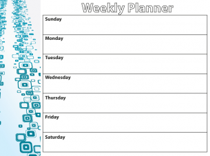 Weekly Appointment Planner Template  Calendar
