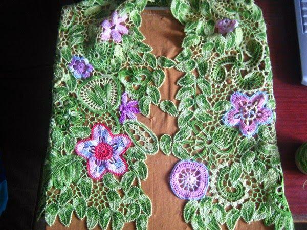 TRICO y CROCHET-madona-mía: Blusas en Crochet Irlandés o Ruso ...