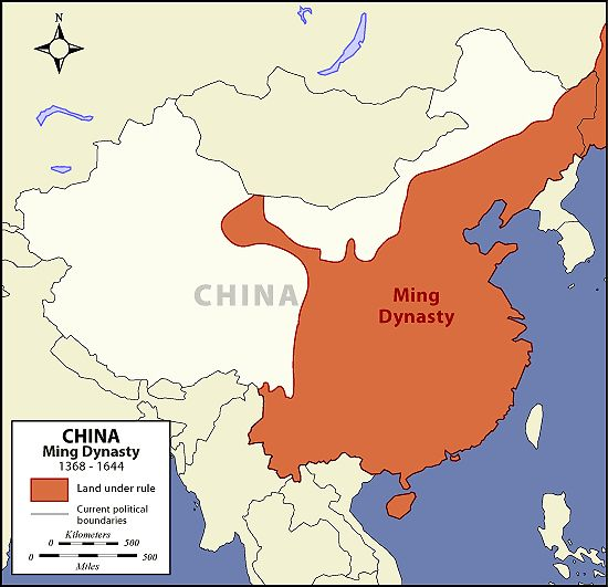 Image from httparchivetsmiaart of asiahistoryimages ming dynasty map the art of asia history and maps gumiabroncs Gallery