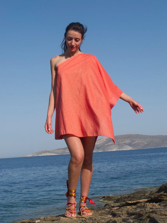 6eca85018a One Shoulder Tunic Beach Coverup Kaftan by GreekChicHandmades, $32.00