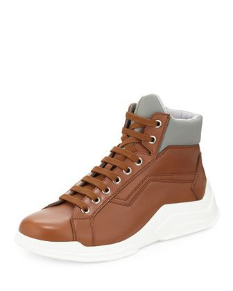 165715277fb Leather Show High-Top Sneaker