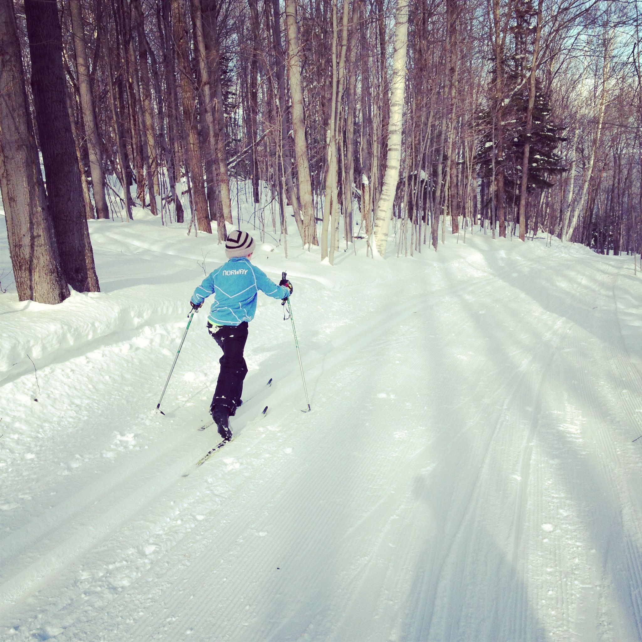 Cross Country Skiing With Kids At Trapp S Cross Country Skiing Nordic Skiing Skiing