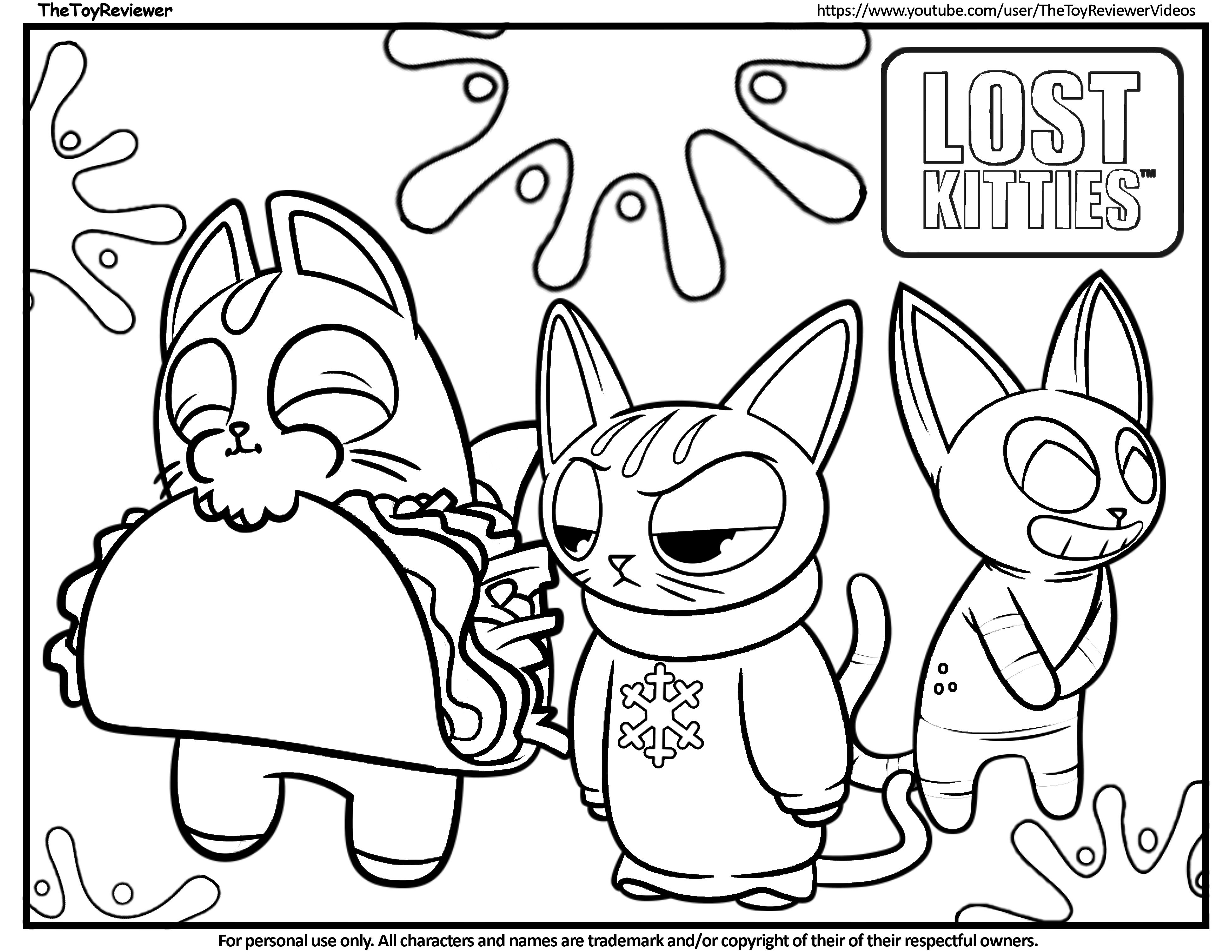 Here Is The Lost Kitties Coloring Page Click The Picture