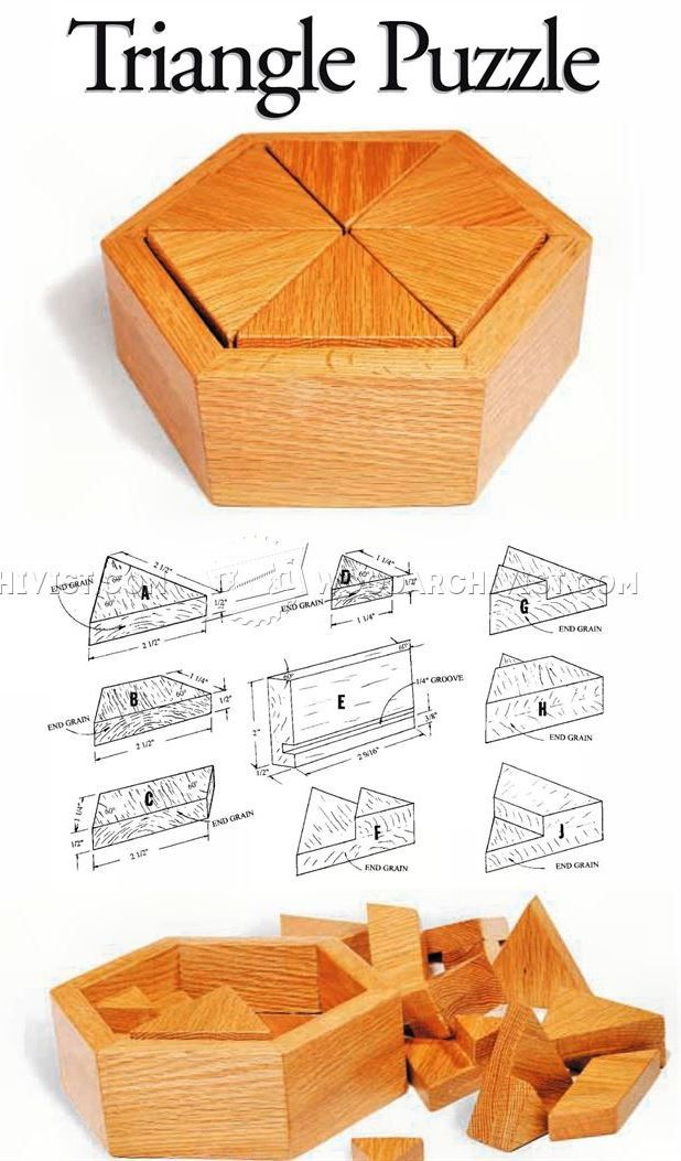 Triangle Puzzle - Woodworking Plans and Projects   WoodArchivist.com