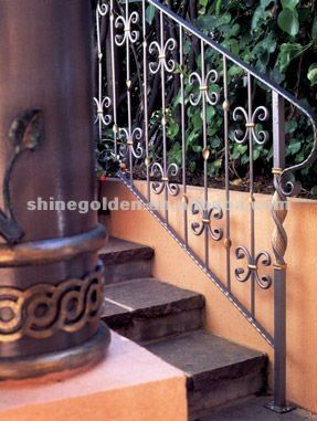 Best Antique Iron Stair Railings Wrought Iron Stair Handrail 400 x 300