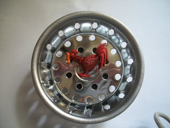 Kitchen Sink Drain Plug Red Rooster. Sink by freshcountrycandles ...