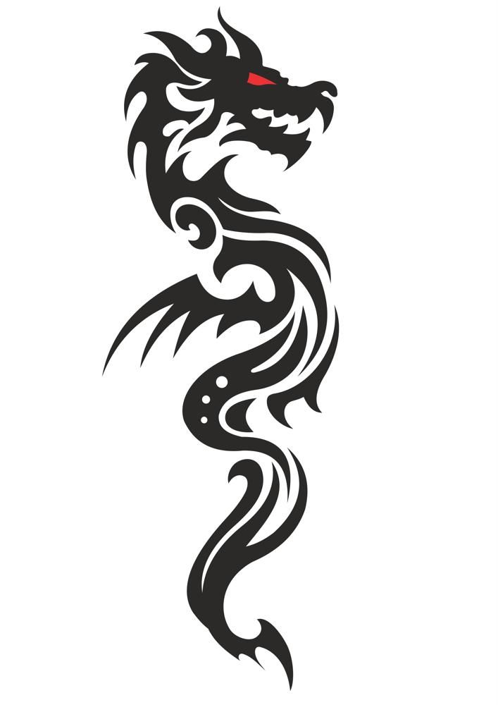 Photo of Cool Tribal Dragon Tattoo Design Vektor Kostenlose Vector Cdr Download …