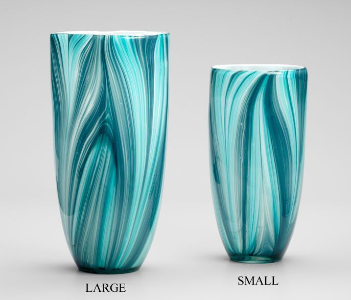 Turin Turquoise And Blue Glass Vase Available In 2 Sizes Turin