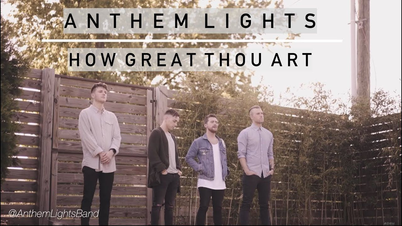 How great thou art anthem lights youtube anthem