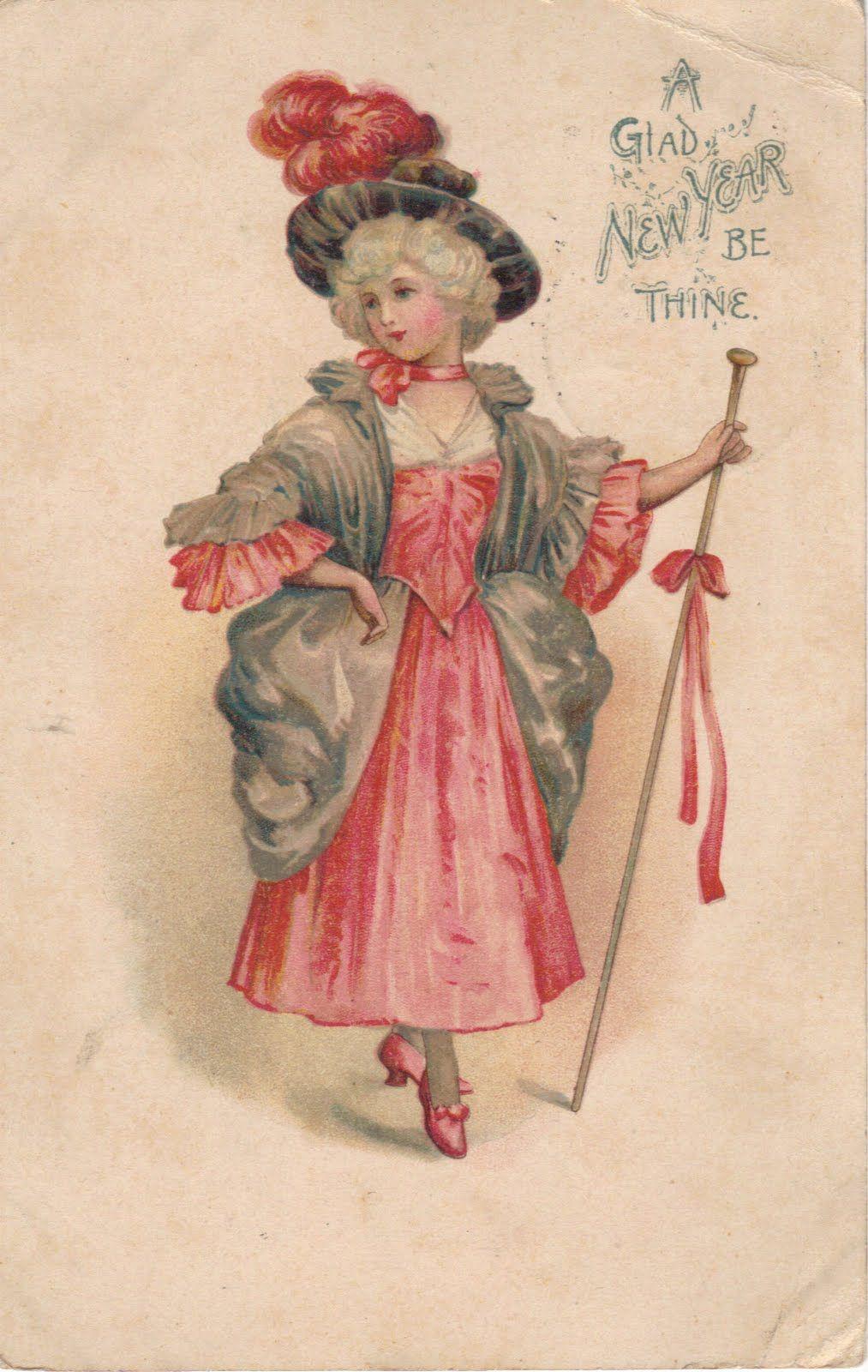 vintage new year victorian 1903 postcard Vintage happy
