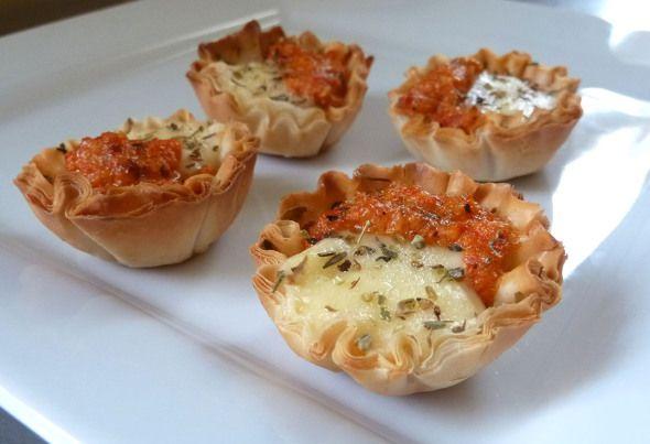 mini romesco tarts