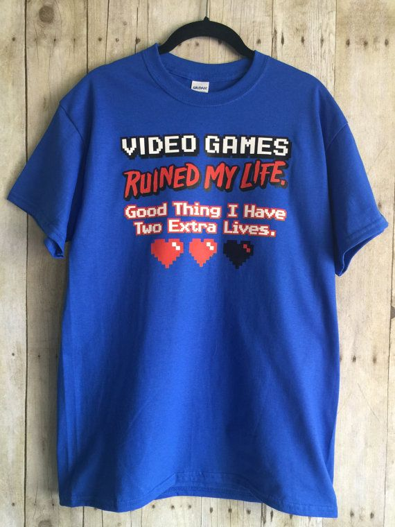 Video Games Ruined my Life Men's T Shirt Funny