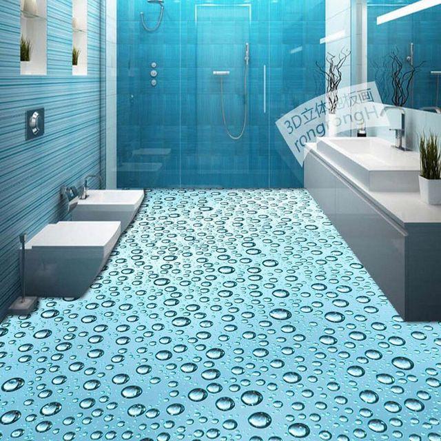 3d foto wallpaper pavimento del bagno murales carta da for Carta da parati impermeabile