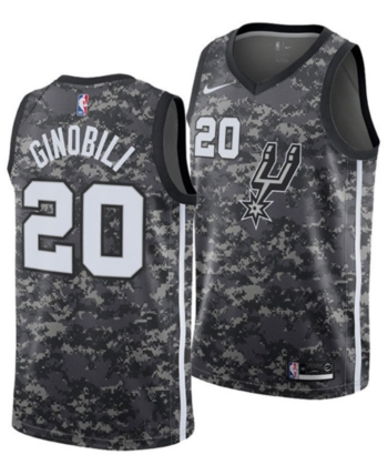 Nike Men s Manu Ginobili San Antonio Spurs City Swingman Jersey 2018 - Black  XL ce1a57713